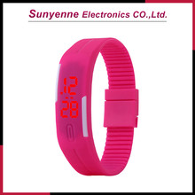 China wholesale custom silicon led watch with colorful lights big mens watches big wrists
