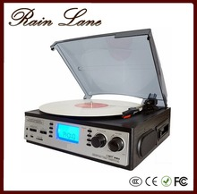 Rain Lane Best selling popular vintage retro classic gramophone and antique record player for sale with USB SD Cassette Radio
