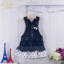 Bebini 2016 spring/summer 1-4 years old denim baby dress for baby girl