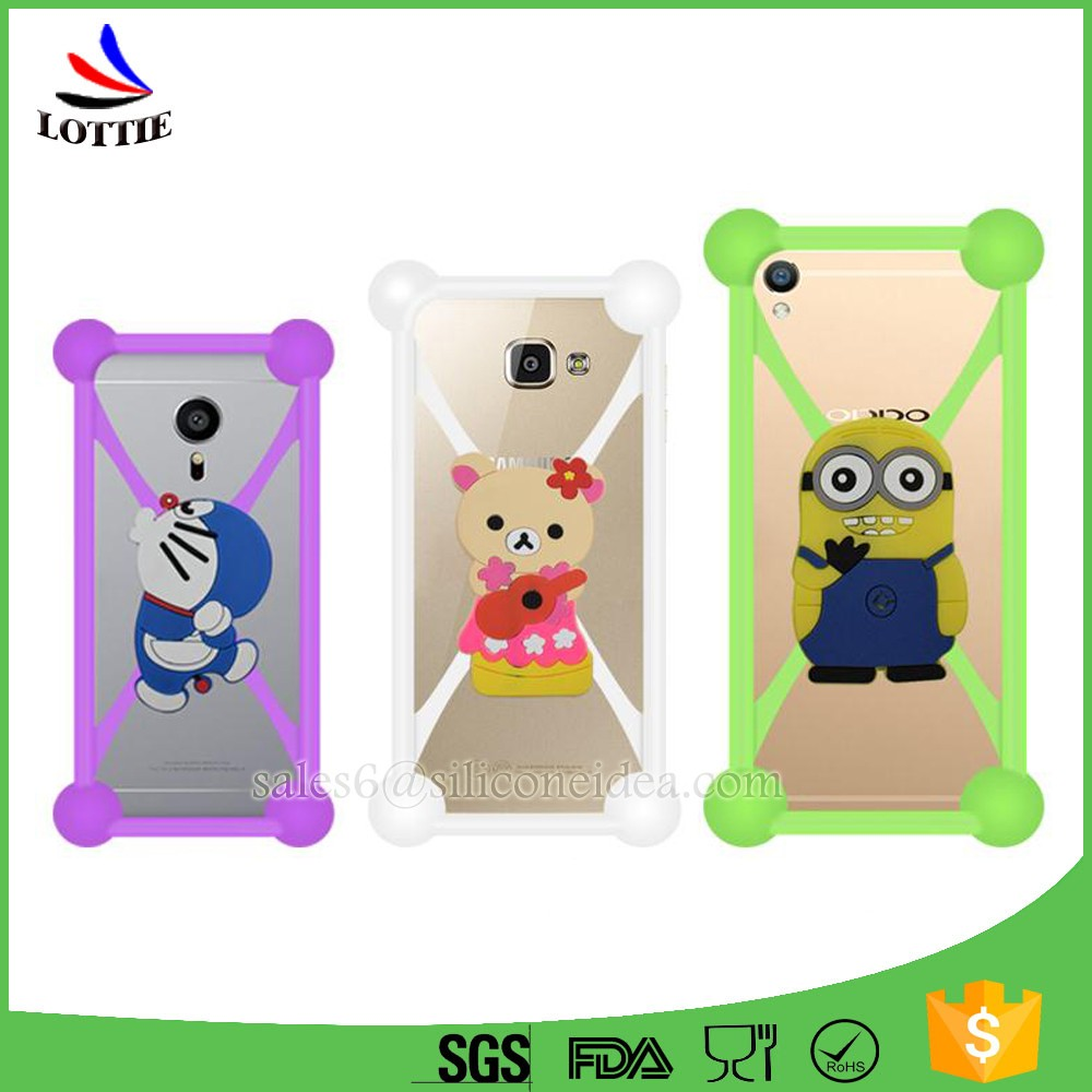 Lottie supply 2016 new design bumper silicone phone case for any phone