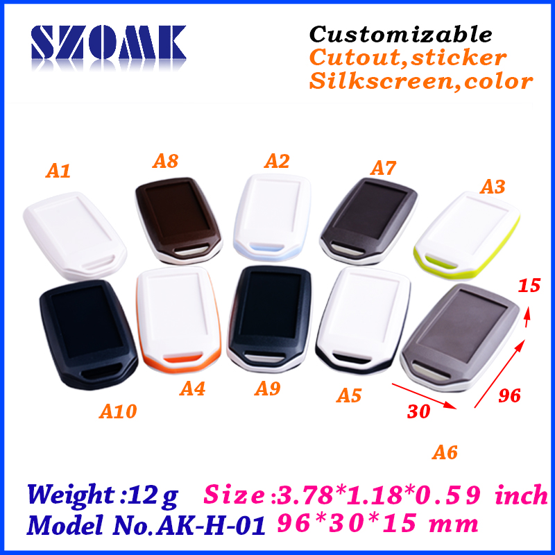 colorful handheld abs enclosure ip54 plastic enclosure