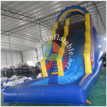 Hpaay Hop pool slide inflatable toys Guangzhou inflatable blue water slide for sale