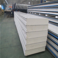 Cool Room Boards Used PU Foam Trapezoidal Wall Sandwich Panels