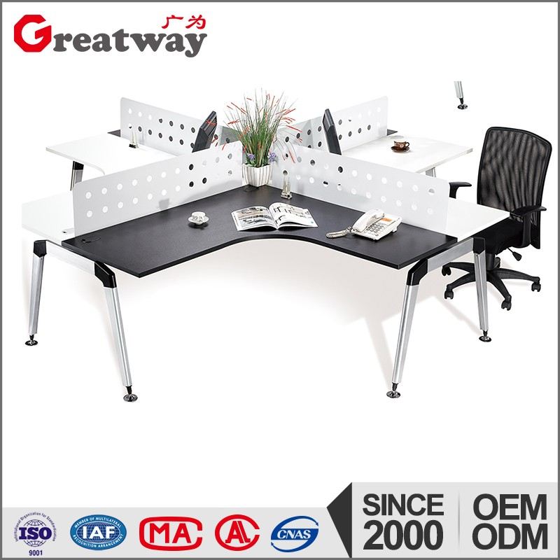4 people partition office desk cmmputer table