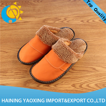 Hot sale cow hide new design lady slippers oem manufacturer