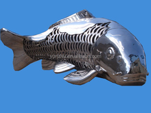 Large art modern stainless steel fishes sculpture for garden decoration