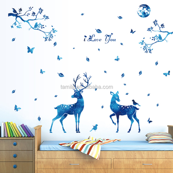 New Arrival The deer silhouette DIY decorative wall sticker/home wall decal