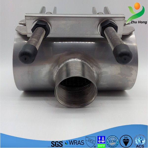 Plumbing Materials Factory Price ductile iron Pipe repair clamp -Tapping Sleeve