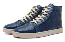 top brand high cut sneakers,real leather shoes for men blue
