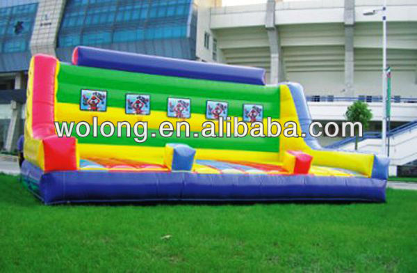 Outdoor inflatable sports games, basketball court