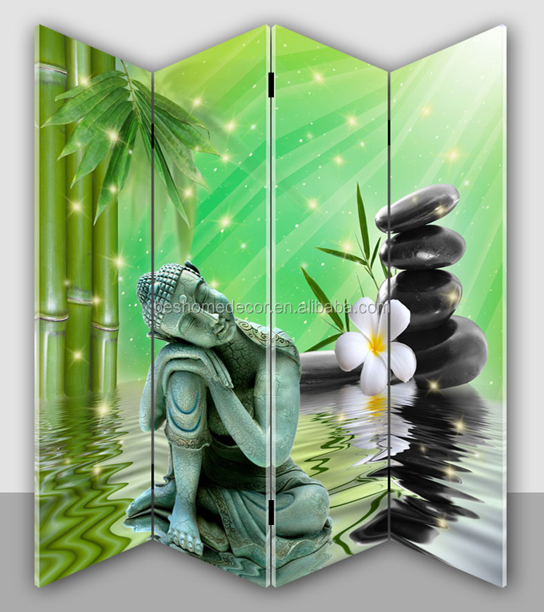 lowest price buddha canvas screen 3d canvas painting room divider
