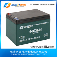6-DZM-14 12V14ah deep cycle lead acid rechargeable portable electric scooter battery Safe and reliable battery bike for kids