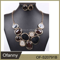 2014 Design Black Pendant Yiwu Necklace