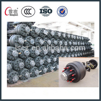 2017 hot sale germany type trailer spare part axle with ISO