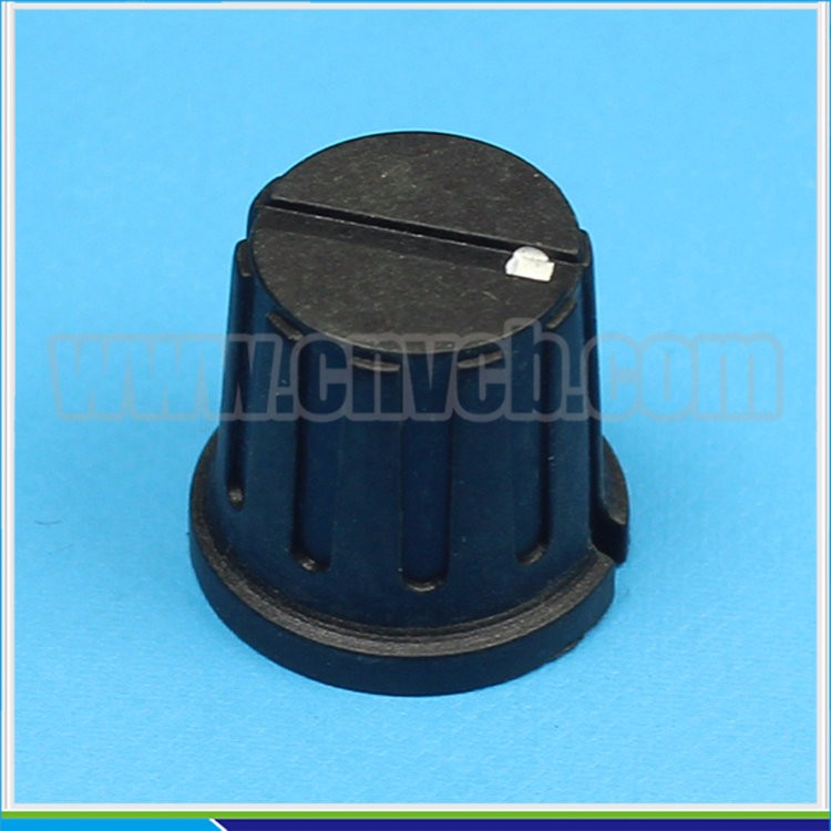KN-8 Plastic Slide Potentiometer Knob With Sharp Corner Knurled Knob locked knob