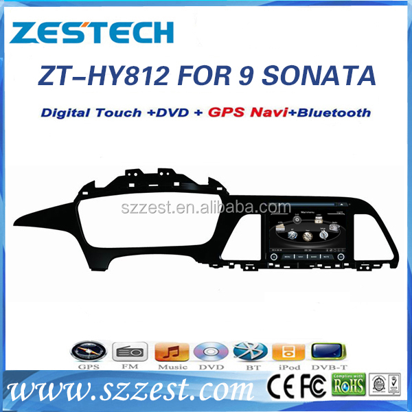 ZESTECH 2014 newest doubled din car dvd player for Hyundai sonata 9 dvd players with gps satellite radio sat nav