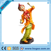 OEM resin crafts, custom polyresin collectible clown figurines