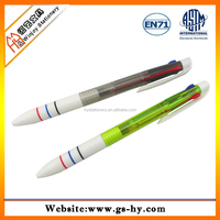 Multi color plastic ball point pen for promotion and gift