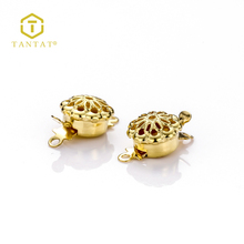 Gold Plated Jewelry Bezel Clasp Button Cover Supplies