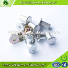 China supplier aluminum pan head half hollow rivet