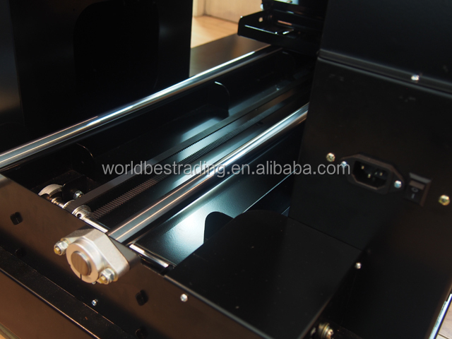 A3 6 Color Digital Flatbed Printer Cheap T-Shirt Printer With Heating Function