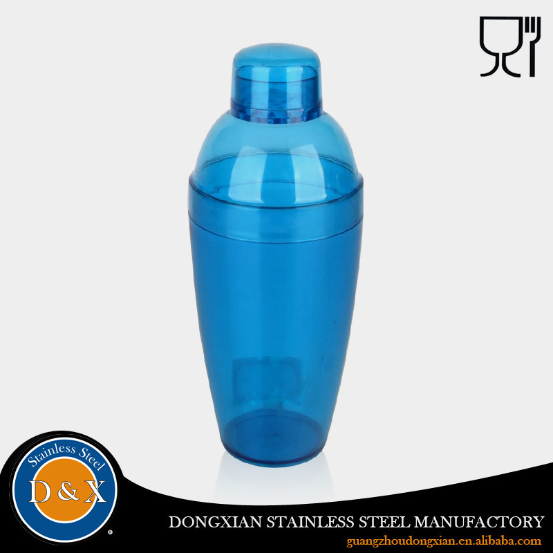 16oz plastic cocktail shaker bottle 250ml 300ml 400ml 500ml 600ml