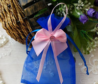fashion china silk 28x30 density organza bags for gift 11cm*20cm