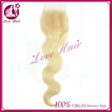 Best seller pretty best selling products lace closure on china market body wave parting free sensational color#613 light blonde