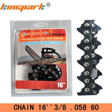 "High quality 16"" 3/8 saw chain for gasoline chainsaw"