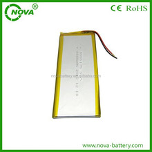 battery polymer 3.7 v with 4000 mah lithium battery