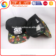 2017 custom 100% cotton snapback cap and hat with 3d embroidery LOGO