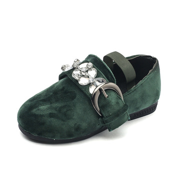 S80402A Spring and Autumn new children 's Peas shoes Crystal Princess shoes flat shoes