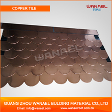 Wanael Fish-Scale Asphalt Corrugated Copper Sheet For Roof, Copper Plate