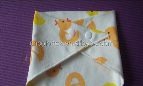 Double-sided printing saliva towel various color Snap fastener