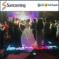 Best Sale Light Weight 3D magic LED Mirror Dance Floor Panels For Sale