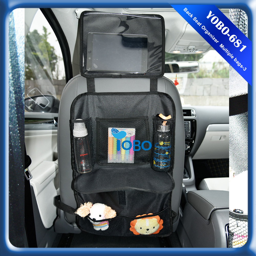 Fully stocked high quality simple lightweight portable car seat back organizer