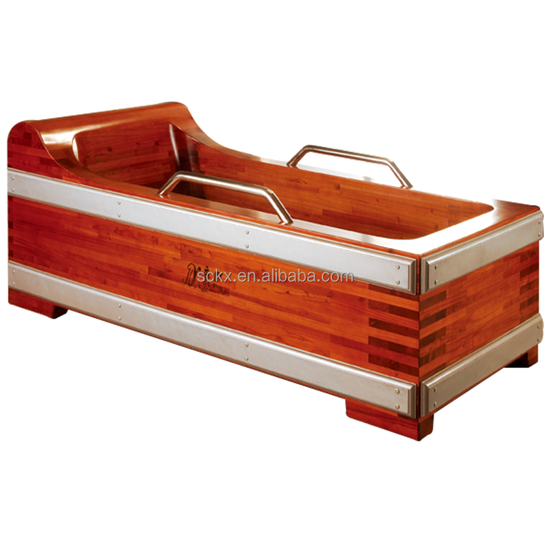 Traditional solid red wood chinese hot tub