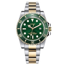 2018 New Pruduct Rotatable Bezel Green Dial Luxury Men Watch Stainless Steel Watches