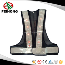 2016 popular waterproof hi vis led reflective safety vest for road safety, led reflective vest