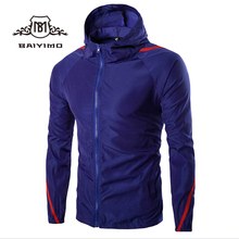 Latest Style Sports Zipper Soccer Polyester Jacket Mens With Hood