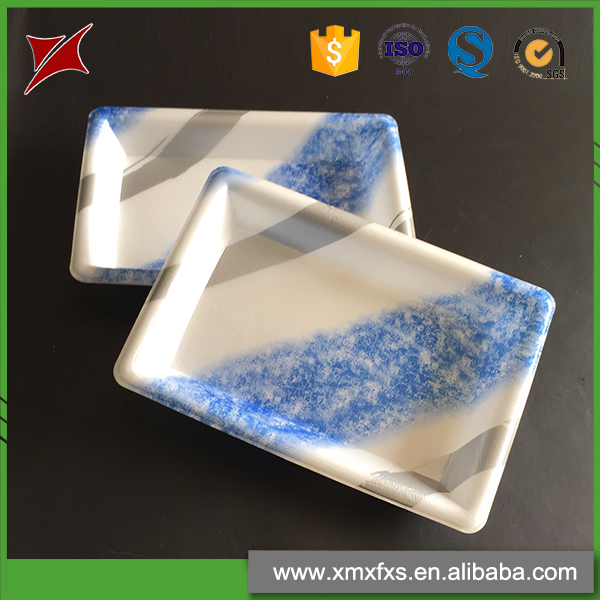 Wholesale recyclable food serving container plate plastic PS tomato tray