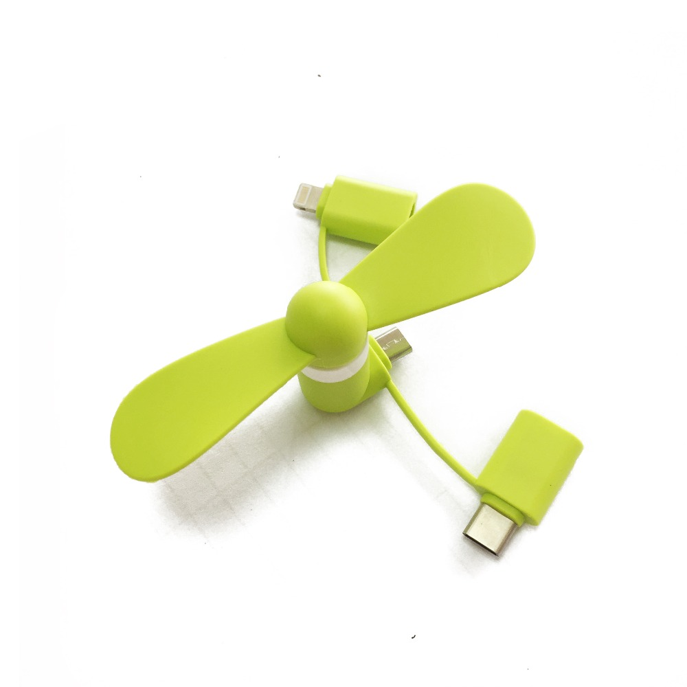Cooling Fan 3in1 Mini Usb Fan for Iphone Mobile Phone USB,New Product Portable Mini Fan