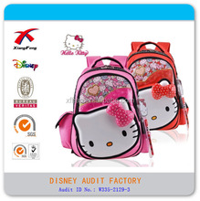 2015 Latest high quality fashion novel lovely hello kitty school bag for kids
