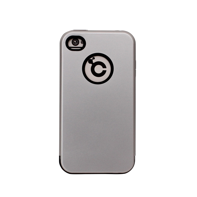 fancy design silver color tpu pc hybrid armor phone cases for iPhone 4 4s