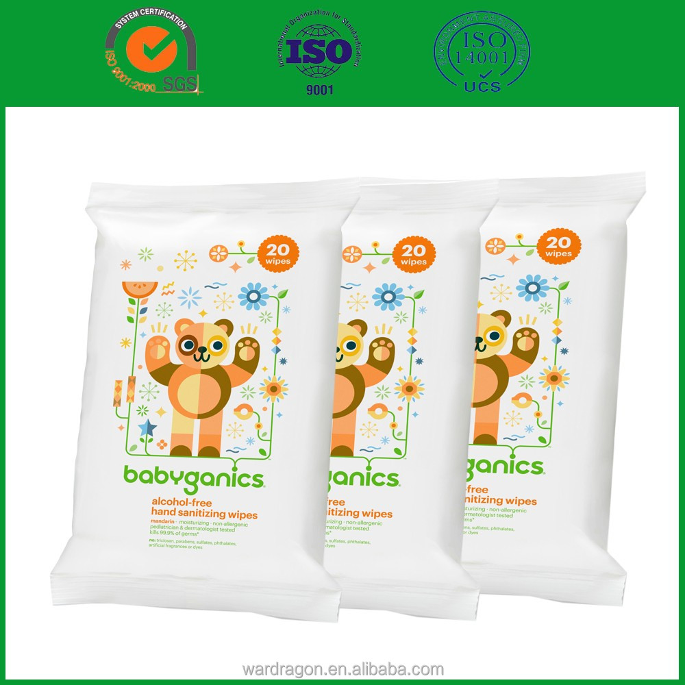 Zero-alcohol cleaning wet wipes for baby sensitive skin