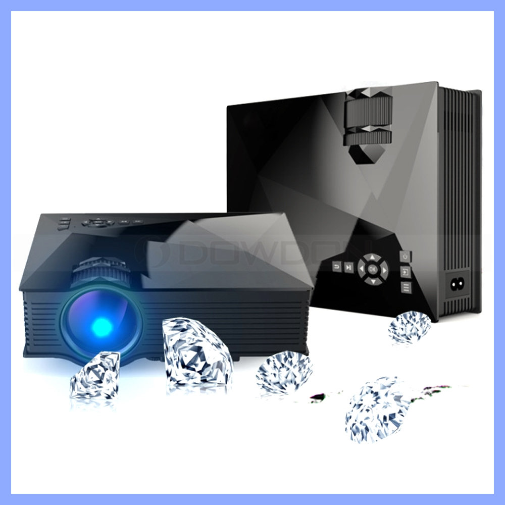 1200lm brightness 800 480 native resolution uc46 home hd for Wireless micro projector