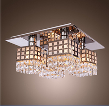 110-240V decorative square crystal lighting/ dining ceiling crystal