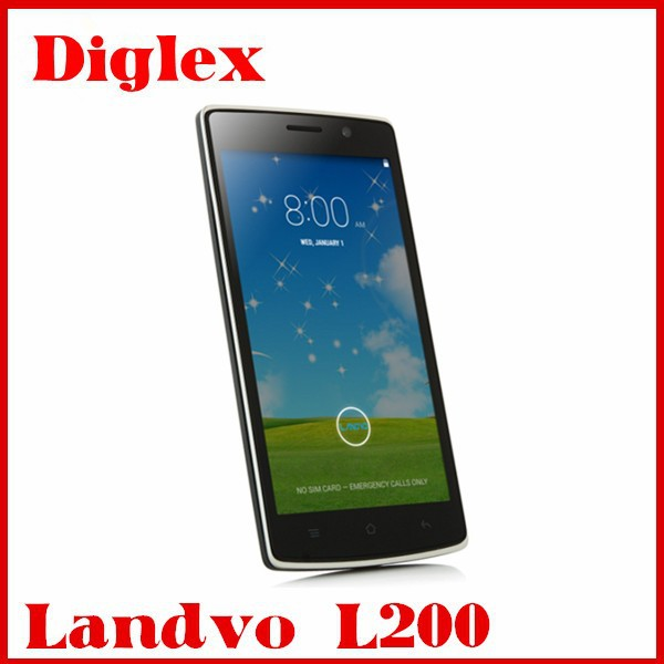 Cheap Phone Landvo L200 Mobile 1GB+8GB MTK6582 QUAD CORE Dual Sim 13MP Cameras with Factory Price