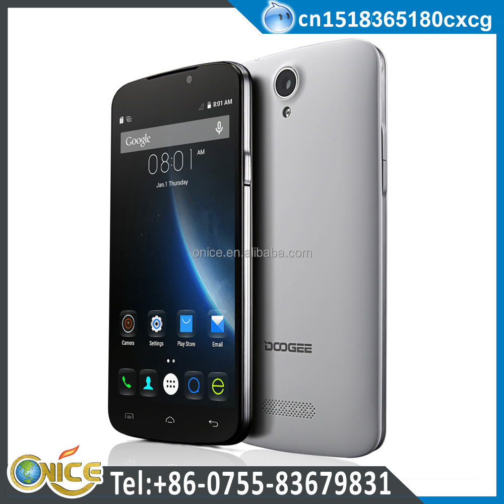 Doogee X6 quad core mobile phone Android 5.1 inch touch screen dual SIM dual standby