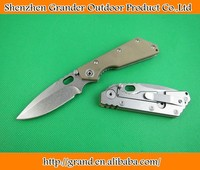 Light Green G10 Handle Stone-washed surface pocket knife Utility knives 1964